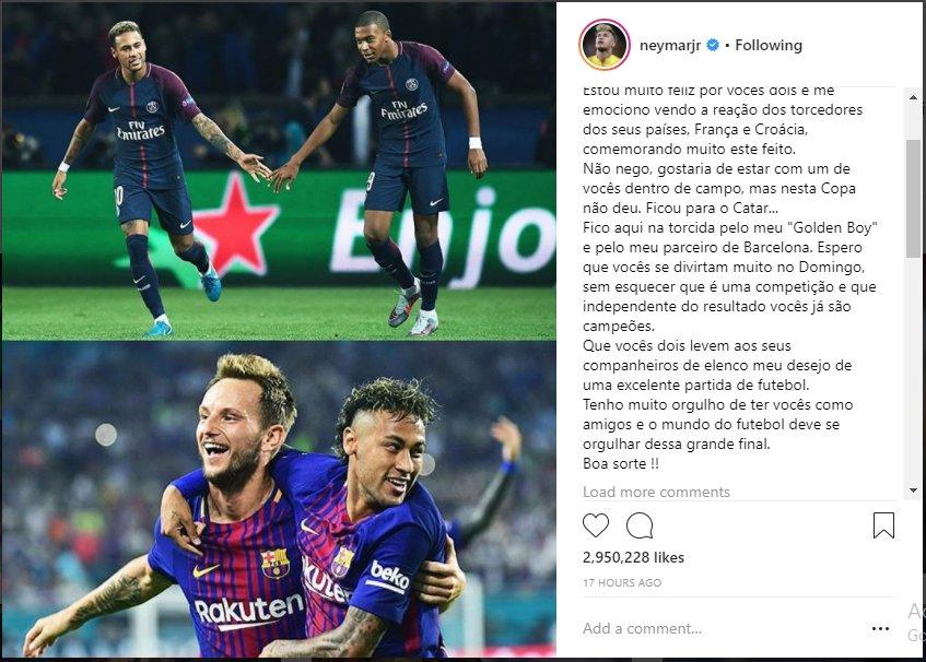 Neymar lam fan trung lap