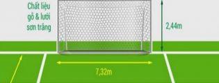 Kích thước khung thành bóng đá 11 người là bao nhiêu?